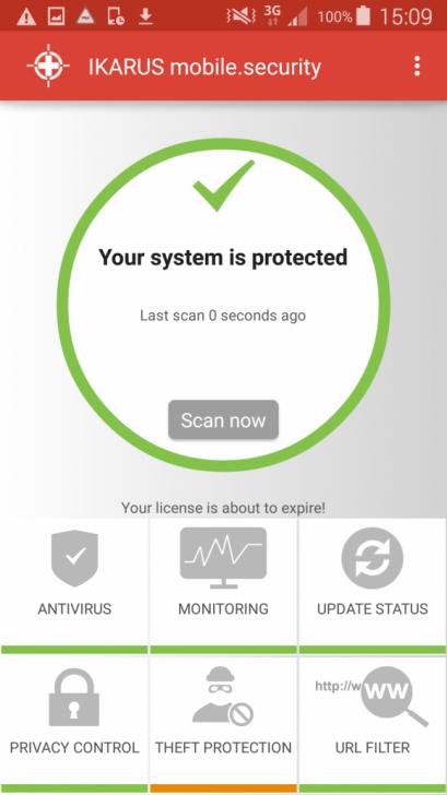 แอปพลิเคชันป้องกันไวรัสบนแอนดรอยด์ IKARUS mobile.security