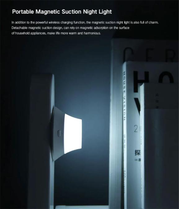 แท่นชาร์จไร้สาย มีพร้อมไฟส่องสว่าง Yeelight Wireless Charging with Night Light EU