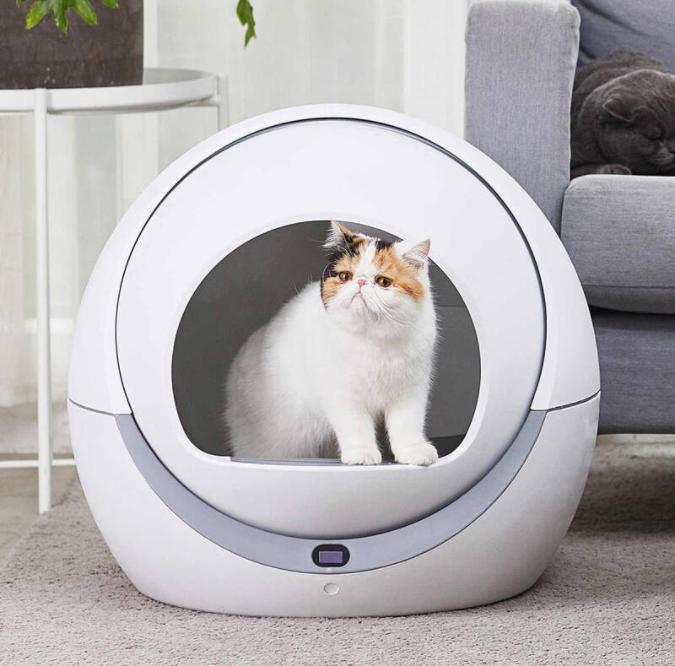 ห้องน้ำแมวอัจฉริยะเชื่อมต่อไร้สาย Petree Automatic Cat Litter Box WiFi Version