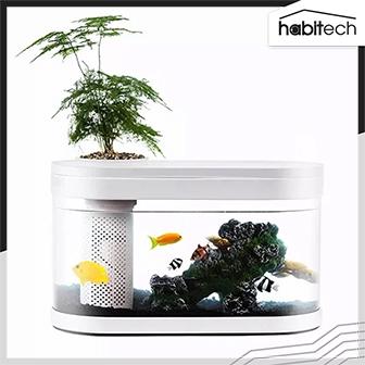 Xiaomi HFJH Geometry Fish Tank (ประกันศูนย์ไทย) (ตู้ปลาอัจฉริยะ จำลองระบบนิเวศในน้ำ มีกระถางต้นไม้ ไม่ต้องเปลี่ยนน้ำบ่อย)