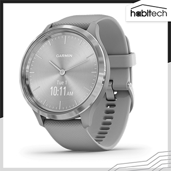 Garmin vívomove 3 (นาฬิกาอัจฉริยะระบบ Hybrid มี GPS ติดตามสุขภาพ การออกกำลังกาย เชื่อมต่อแอปฯ ได้ หน้าจอ 44 มม.)
