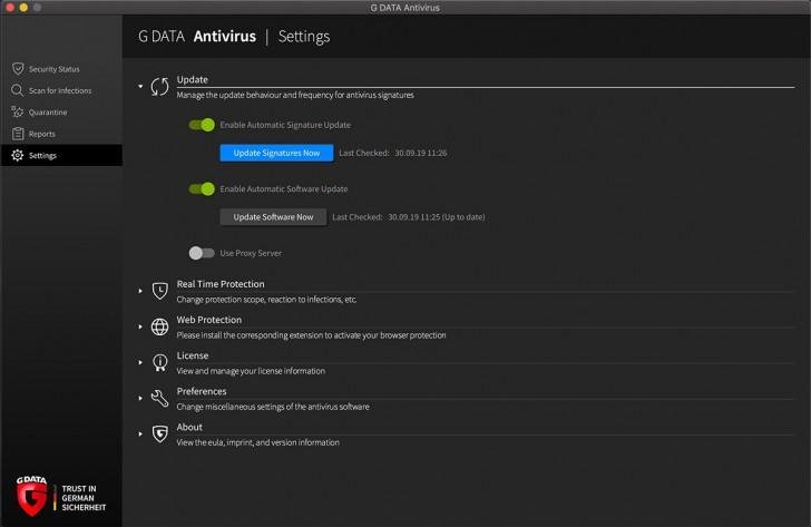 โปรแกรมแอนตี้ไวรัสบนเครื่องแมค G Data AntiVirus for Mac