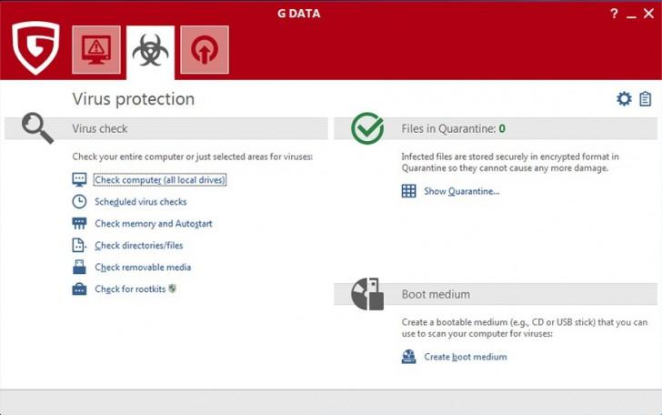 โปรแกรมแอนตี้ไวรัสระดับสูง G Data Total Security