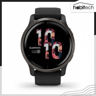 Garmin Venu 2 (นาฬิกาอัจฉริยะ ระบบ GPS หน้าจอ 45 มม. ติดตามสุขภาพใกล้ชิด มีโหมดกีฬา แตะจ่ายเงินสะดวกด้วย Rabbit Card)